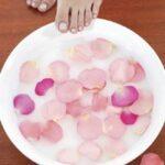 rose petal foot spa