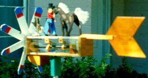 animated cowboy weathervane
