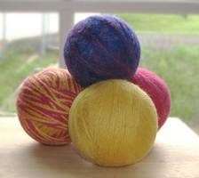 homemade wool dryer balls
