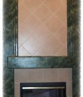 faux marble fireplace