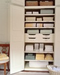organized linen cupboard
