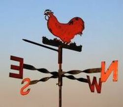 weathervane with rooster