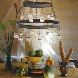 recycled jar chandelier