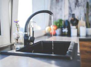 kitchen faucet left running