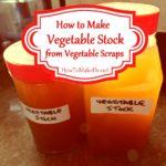 bottles of homemade vegetable stock