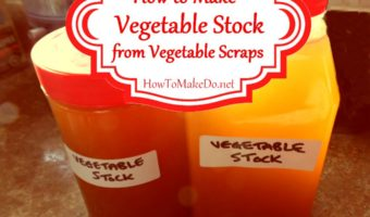 bottles of homemade vegetable stock